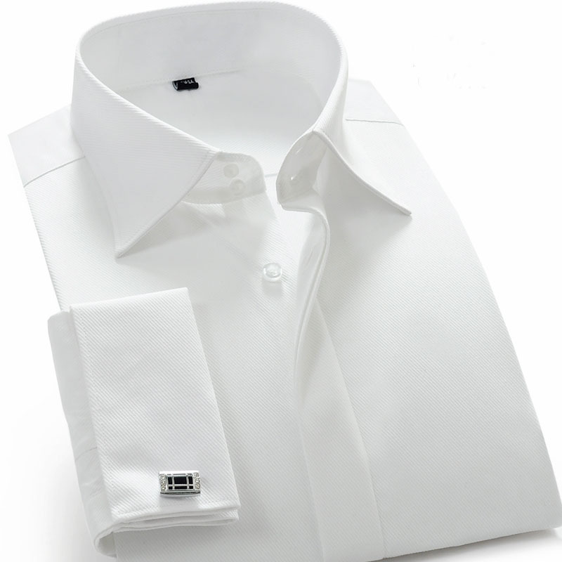 Mens White Cufflink Shirt Artee Shirt