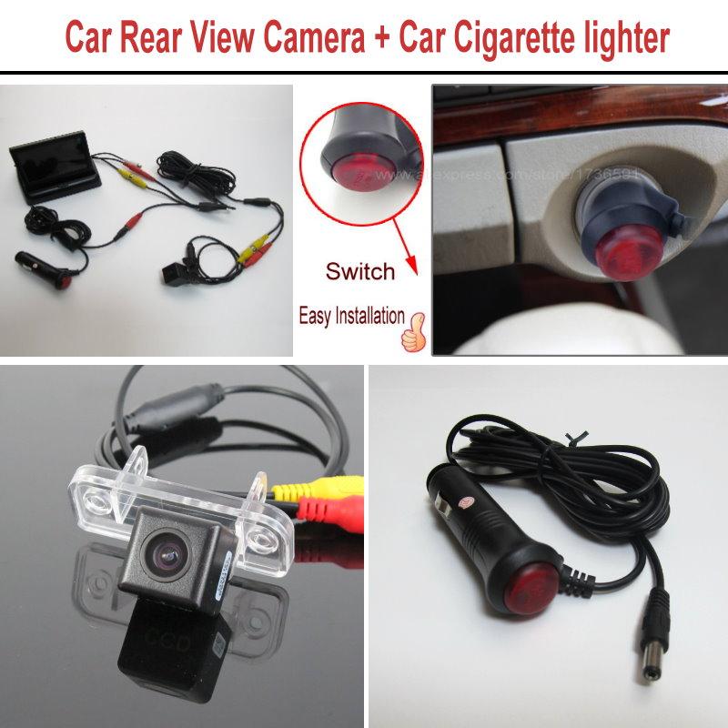 For Mercedes Benz CLK270 CLK320 CLK350 CLK500 CLK55/63 AMG Rear View Camera + Car Cigarette lighter Power Cable / Parking System(China (Mainland))