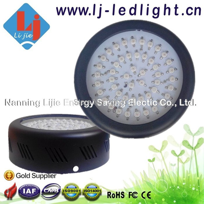 Mini UFO 150 W LED Grow Light Full Spectrum 3 w Bridgelux Chip for Budding Seeding Blooming Fruiting with CE,FCC,RoHS Approved(China (Mainland))