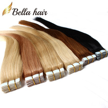 (6 Colors Available) 7A PU Skin Weft Tape Hair Extensions Brazilian Virgin Hair Straight Tape In Human Hair Extensions(China (Mainland))