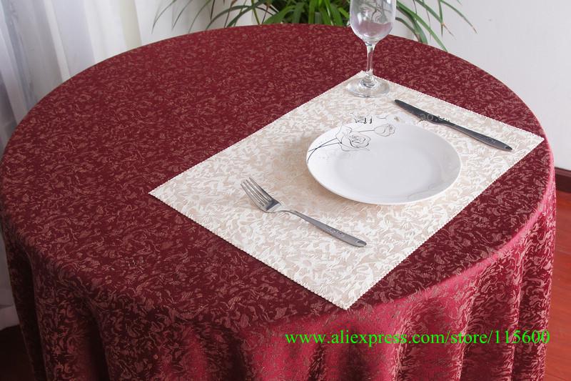 Wedding Decor Romantic High Quality Polyester Cotton Big Jacquard Fashion Table Cloth Round Tablecloth