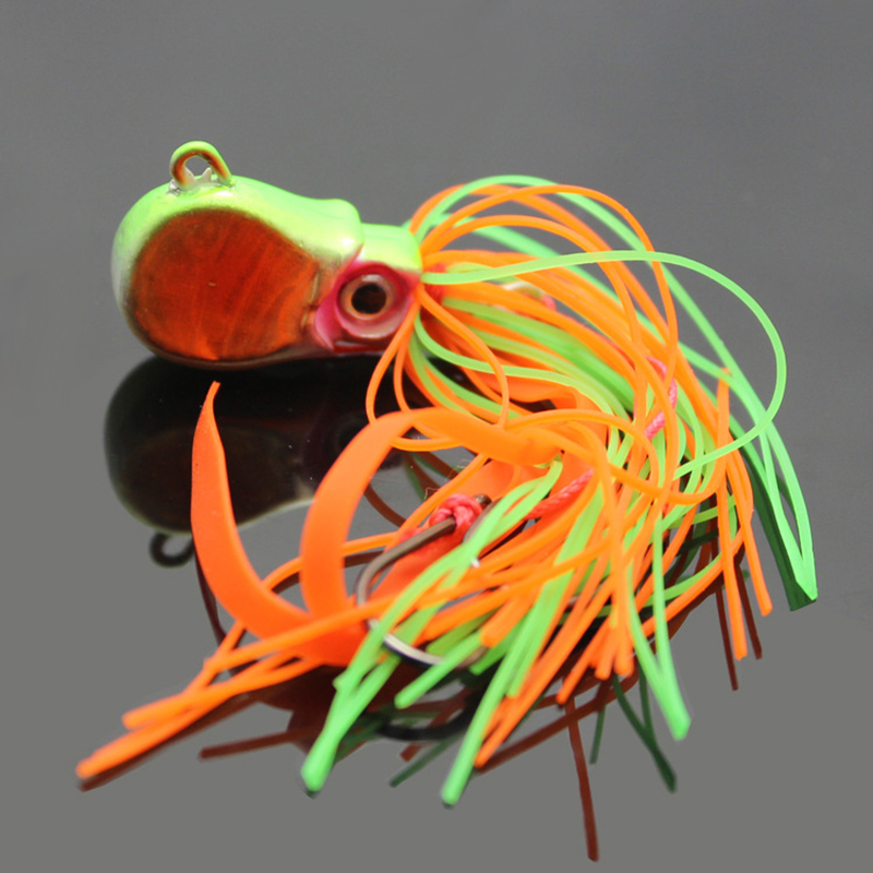 2016 new 30g jig lure lead Octopus head jigs for  boat deep sea fishing Squid Jigs hard baits <br><br>Aliexpress