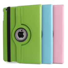 For Case Apple iPad 234 mini 123 air 12 pro 12.9 PU Leather Smart Stand Flip Case Cover 360 Rotating Gift Screen Protector Film(China (Mainland))