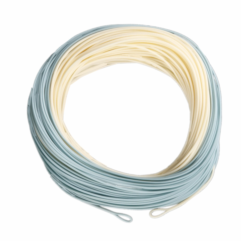 Bonefish Fly Line 100 FT Sand/Blue Color Fly Fishing Line With 2 Welded Loops Bonefish Fly Line(China (Mainland))
