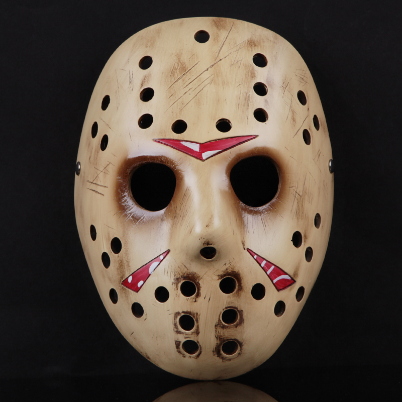 Brand Handmade Resin Scary Mask Props For Halloween Decoration Party Suppliers Horror Mask Fashion Jason Masks for Cosplay(China (Mainland))