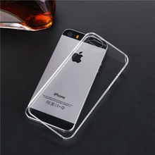 For iPhone 5s case Transparent Case Hard Plastic Crystal Clear Protect PC Cover For iPhone 5 5s 6 6s 6plus 7 plus Phone Cases(China (Mainland))
