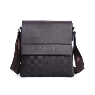 Free Shipping 24*23cm Gennuine Cow Leather Men's Shoulder Bag Business Messenger Bag for Man