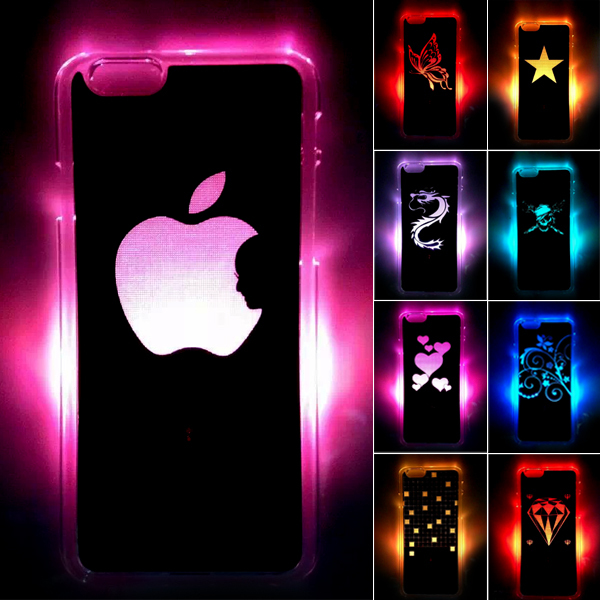"""New Arrival For Apple iPhone 6 6S LED LCD Color Changed Sense Flash light Case Cover 4.7""""(Hong Kong)"""