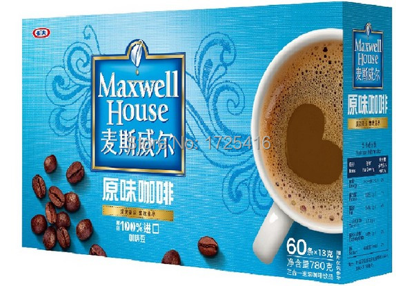 Imported coffee flavor triple instant coffee 780 g free shipping