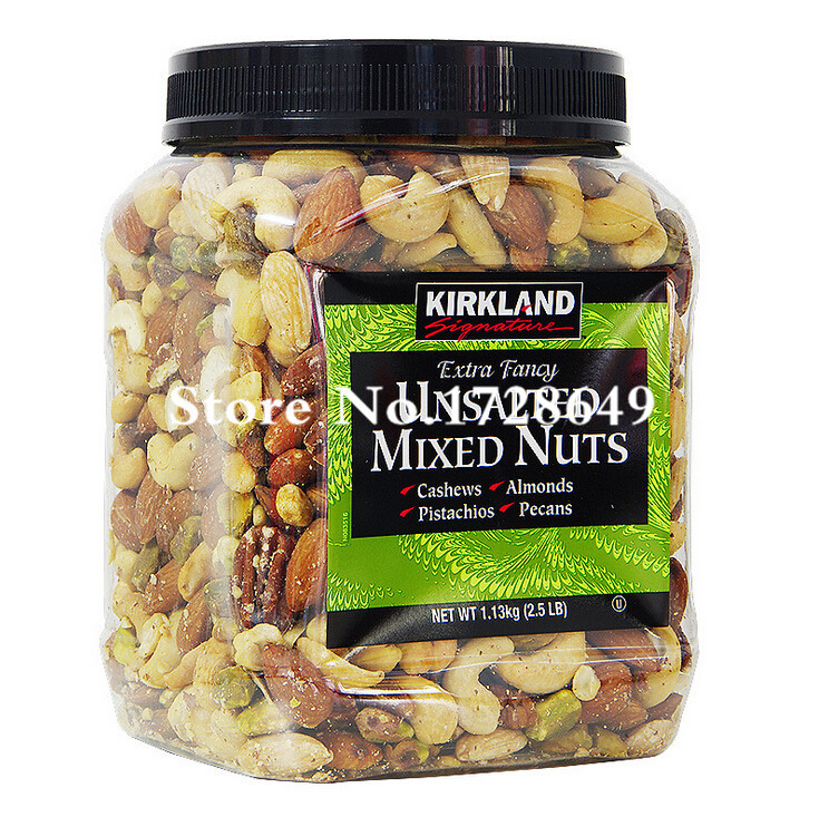 Kirkland Signature Fancy Unsalted MIsed Nuts Dried Cashew,Almonds,Pistachios,Pecans 2.5LB(China (Mainland))