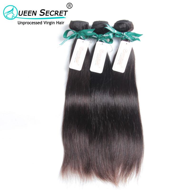 Queen Secret hair full cuticle hold Free shipping unprocessed Eurasian virgin straight hair 1pc a lot 100% Eurasian human hair