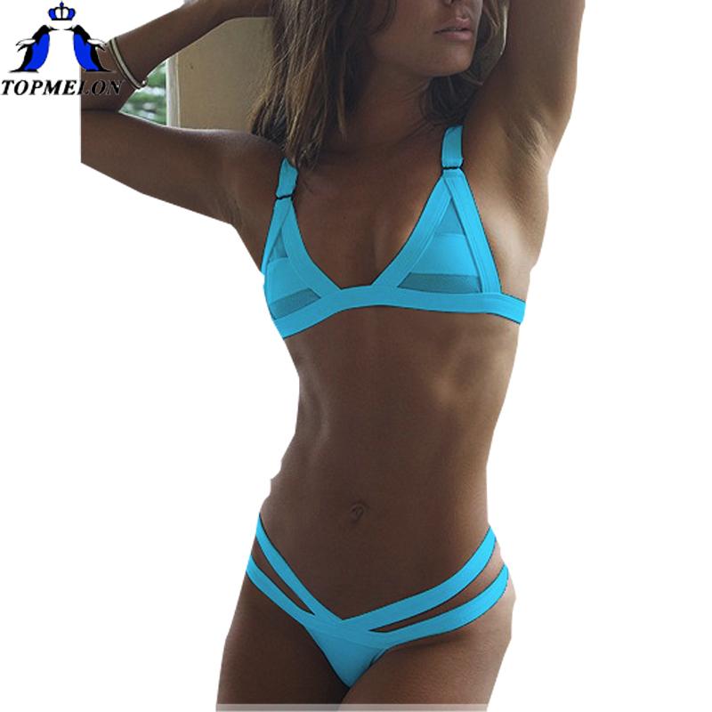 bandage bikini swimsuit Set Bathing suit biquini brasileiro bikini brazilian cheap brazilian bikini strappy girls bikini(China (Mainland))