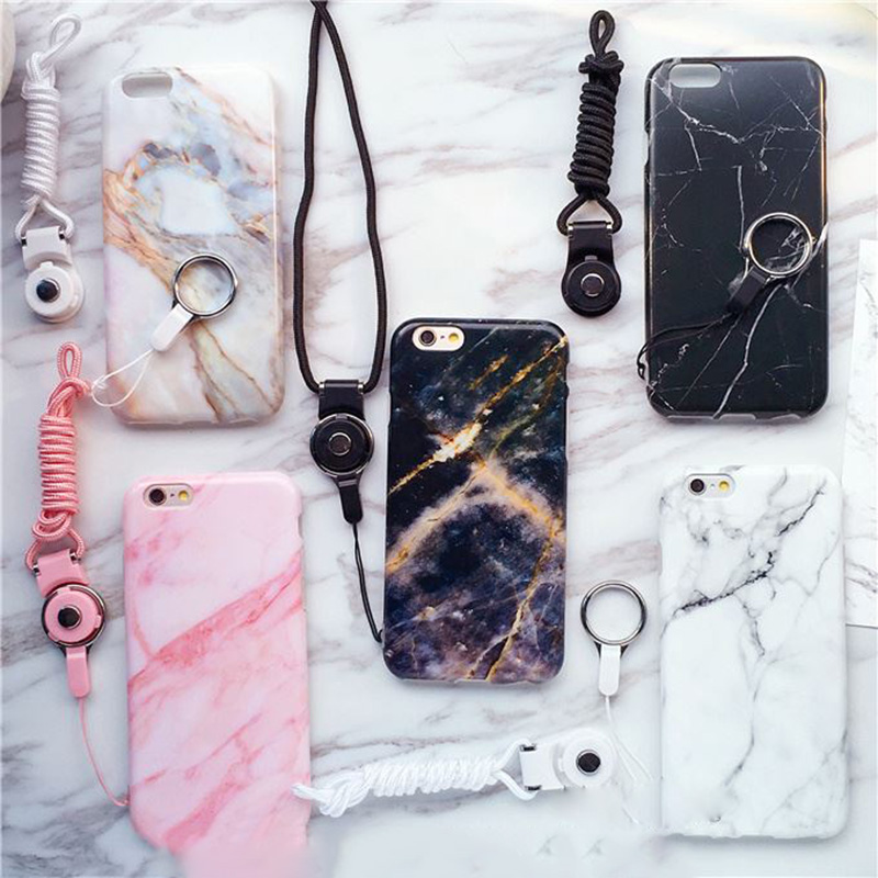 marble Transparent Clear Soft Case For Apple iphone 6 6s TPU Phone Back Cover foe iphone 6 6s plus sphone lanyard(China (Mainland))