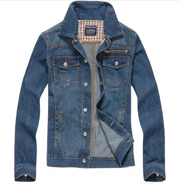 New 2015 Denim Men's jackets Fashion Men coat brand slim fit jaqueta masculina Casual abrigos y chaquetas hombre Size:M-XXL(China (Mainland))