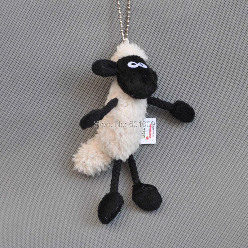 "Free shipping GENUINE Shaun The Sheep Plush Toy Sheep Stuffed Animal Small Pendant Keychains 5""(China (Mainland))"