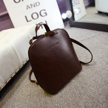 New Shell-type Leather Backpacks For Women Fashion Travel Back Pack Korea Style Female Bag Free Shipping Brand Shoulder Bag(China (Mainland))