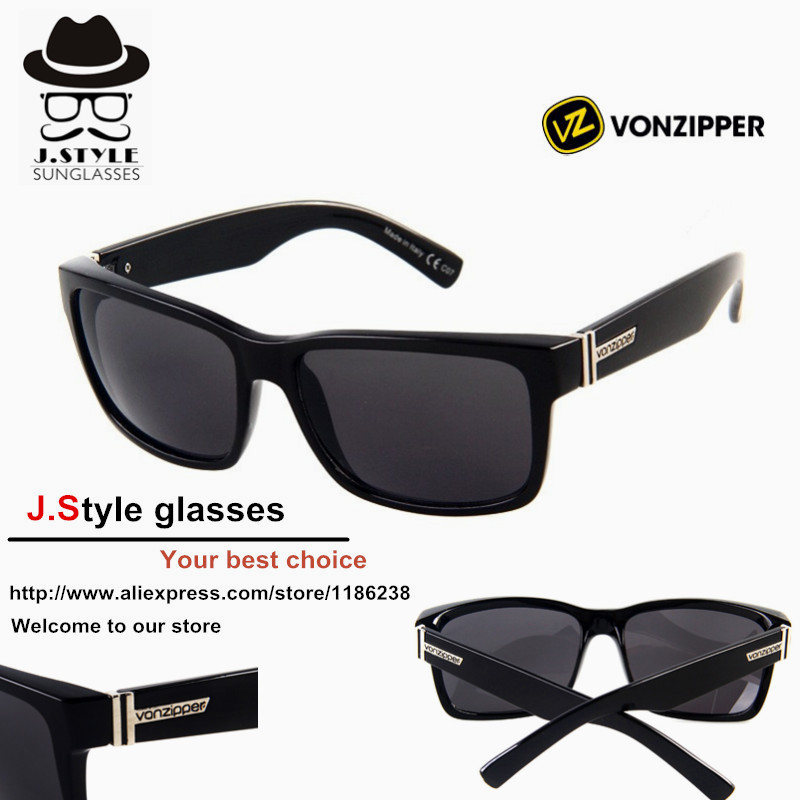 Bestselling 10 pcs/lot Wholesale BRAND Vonzipper frostbyte Elmore Mens Retro VZ Sport von zipper Sunglasses 14 styles can choose(China (Mainland))