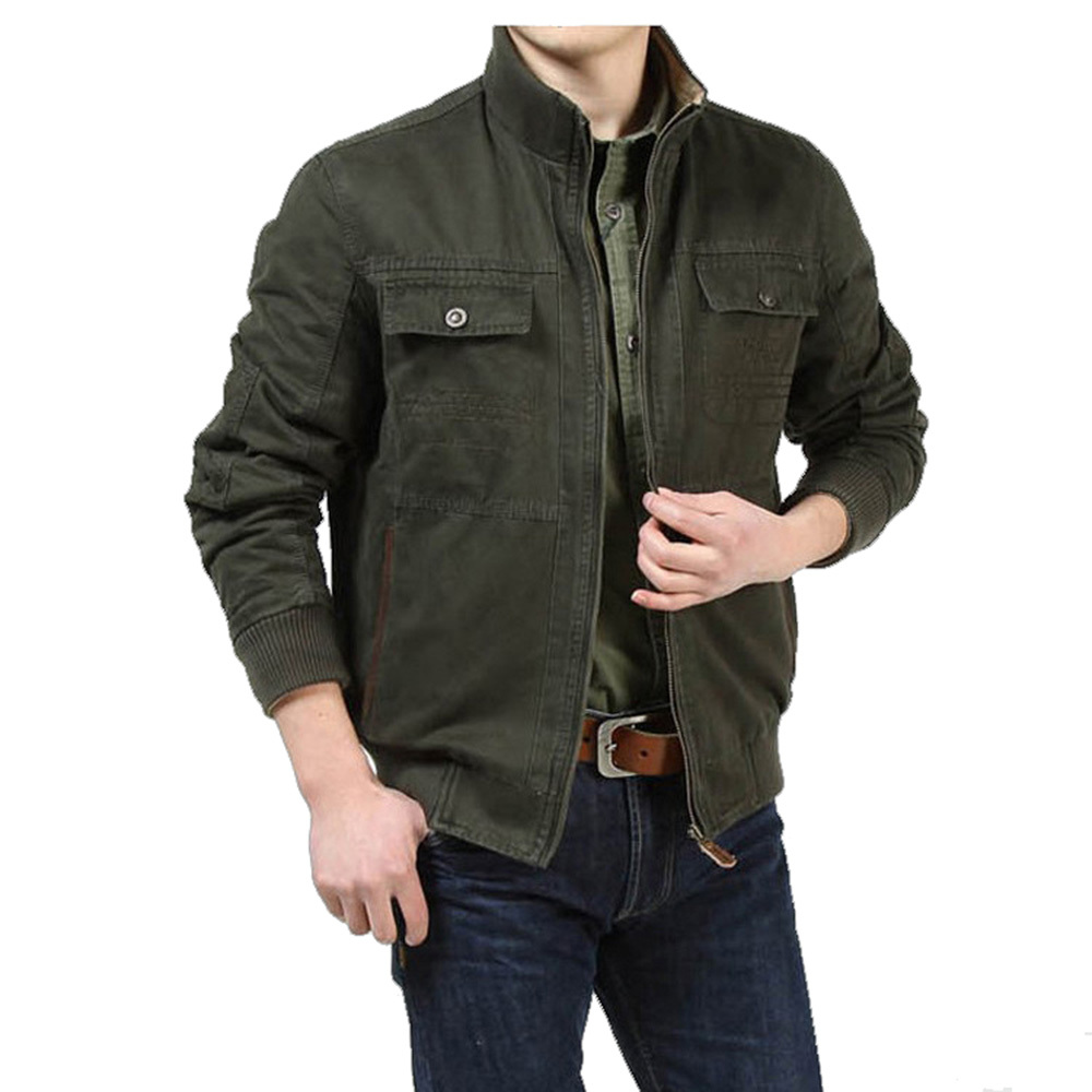 Mens Lightweight Leather Jacket - Coat Nj
