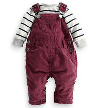 Free shipping new denim baby romper, long sleeve baby girl boy clothes,baby Newborn Jumpsuit clothing(China (Mainland))