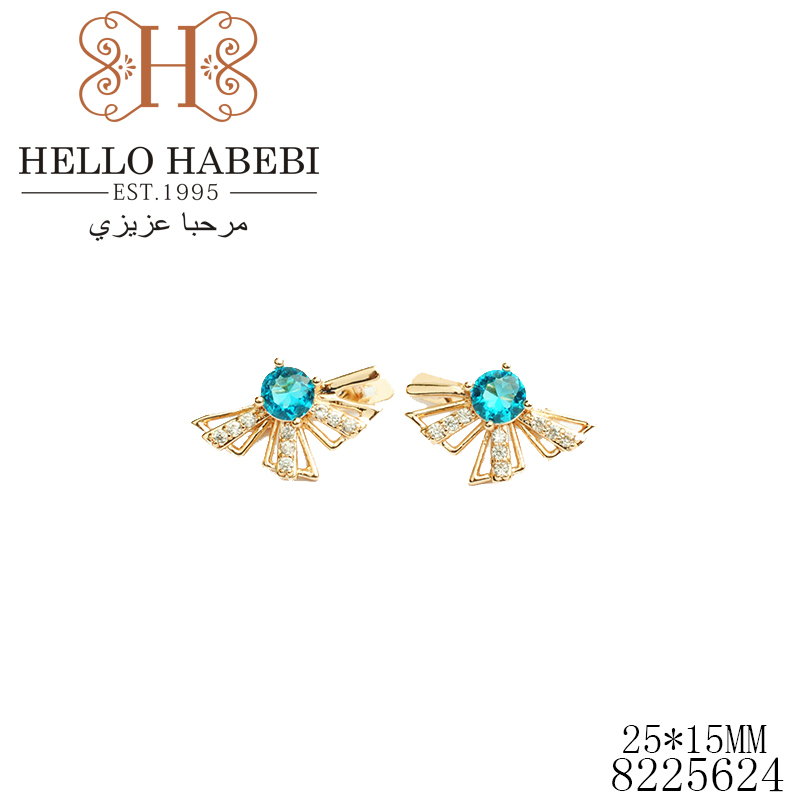 New arrivel High quality Hot selling Russian gold Fashion earrings Great gift for Women Factory price 8225624(China (Mainland))