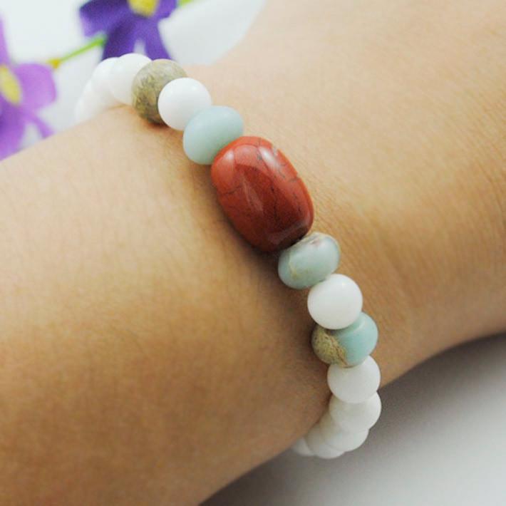 Handmade Natural Stones strand bracelet beads jewelry & women/girl bangle 2015 new summer style bijoux(China (Mainland))