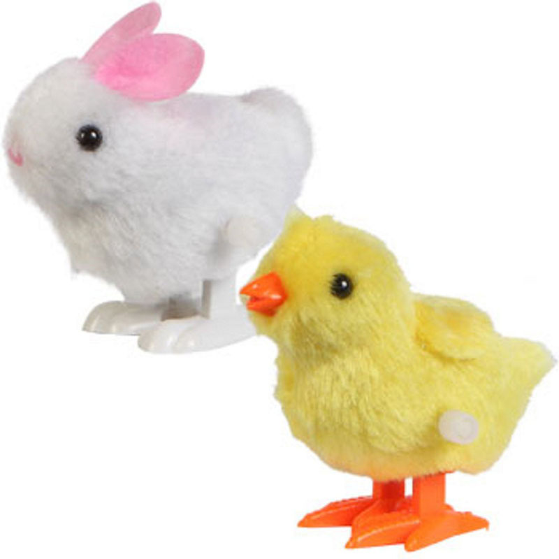 Scolour New Infant Child Toys Hopping Wind Up Easter Chick and Bunny(China (Mainland))