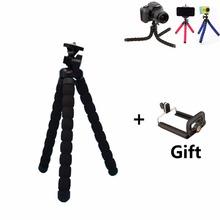 Mini tragbaren schwamm flexible stative kleine/große größe octopus stative für kamera oder gopro xiaoyi und SJ 3000 4000 + handyhalter(China (Mainland))