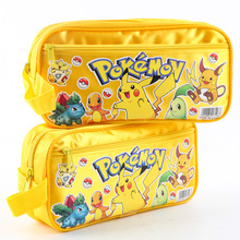 2016 Hot Sale New Pokemon Go Pikachu Pencil Pen Case Wallet Bag For Student Tools Cosmetic Make Up Purse Bag Storage Pouch Gift(China (Mainland))