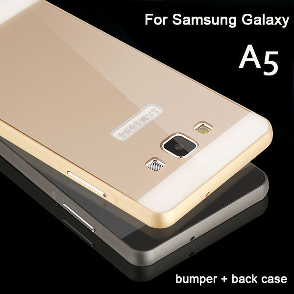 Original A5 Ultra thin Metal Aluminum Frame Bumper SkinFor Samsung Galaxy A5 A5000 Bumper With Back Cover Case(China (Mainland))