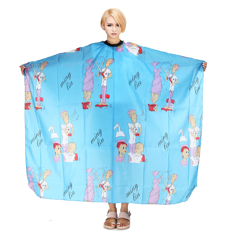 1Pcs 158cm*140cm Pro Salon Waterproof Wrap Adult Gown Barbers Cartoon Images Hair Cutting Cape Hairdressing Cloth Styling Tool(China (Mainland))