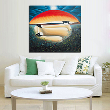Buy Handpainted Free Wall Pictures Abstract Art Oil Painting Canvas Wall Stickers Home Decorative Oil Paintings for $50.49 in AliExpress store