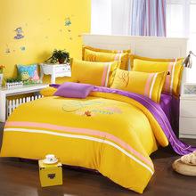 Luxury ropa de cama bedding set Cotton 4pcs bedclothes bed linen sets duvet cover set bedsheets cotton bedcover jogo de cama (China (Mainland))