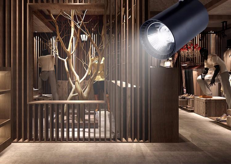 Modern LED track light lamp 20W 30W 36W 2 wire clothing shop windows showrooms exhibition spotlight COB rail spot