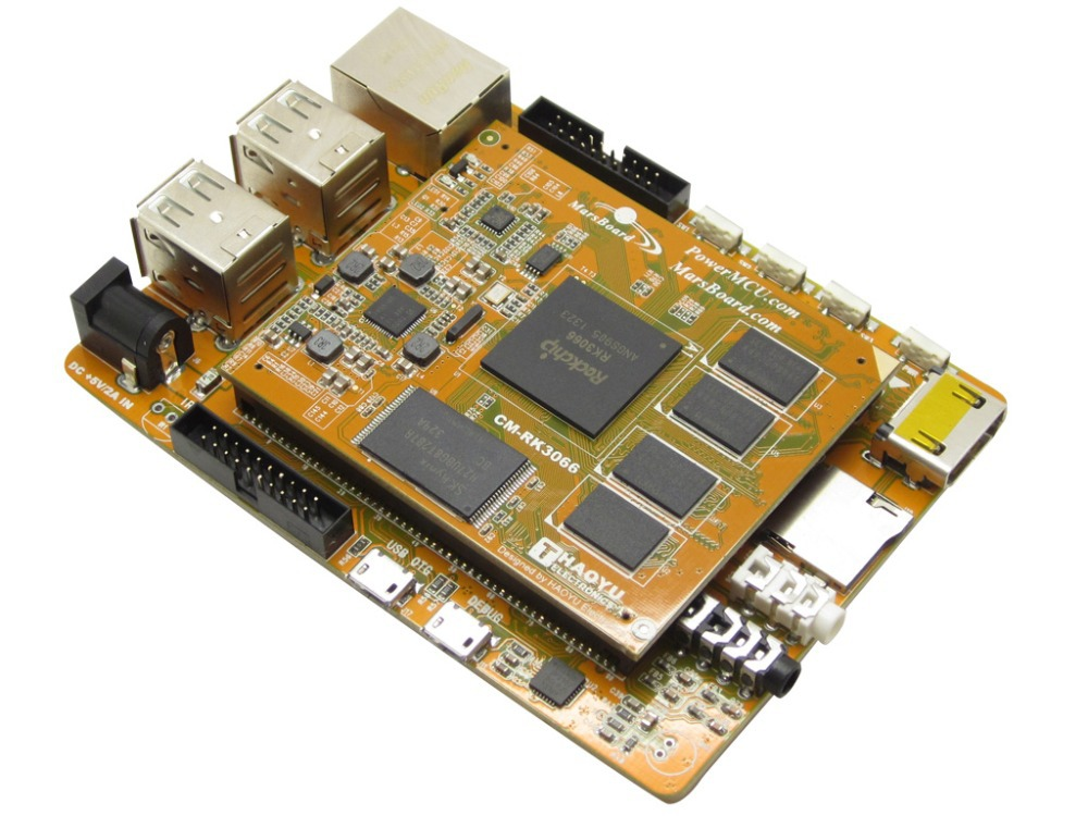 Marsboard RK3066 Quad Core 1GB DDR3 Mali-400 MP GPU Dual Core ARM Cortex A9 Development Board USB HDMI Ethernet Interface(China (Mainland))