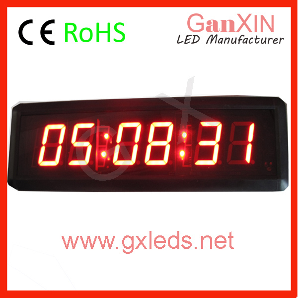Indoor 6 digits small led time and temperature display(China (Mainland))
