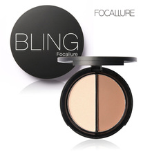 Fashion Cosmetic Makeup Bronzer Highlighter 2 Different Color Concealer Blemish Powder Cream Palette Facial Beauty Make Up Tools(China (Mainland))