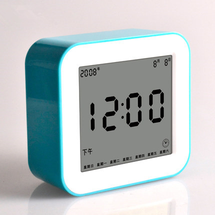 Creative Student Mute Multifunction LED Table Clock with Backlight Personality Small Electronic Alarm Clock for lazy people(China (Mainland))
