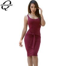 O-neck Tie Front Knitted Ladies Casual Dress Sexy Bodycon Dress Midi Party Women Dresses Night Sexy Club Dress Vestidos(China (Mainland))