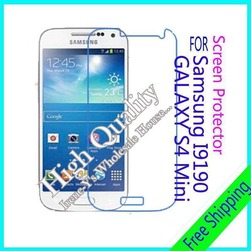 Wholesale price free shipping 3 X high clear glossy phone screen protect film For Samsung GALAXY S4 Mini I9190 3PCS/lot(China (Mainland))