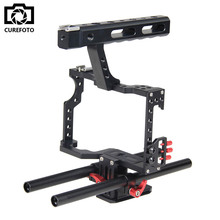 Buy Professional Aluminum DSLR Camera Video Cage 15mm Rod System Rig Sony Alpha A7 A7II A7S A7SII A7R A7RII Panasonic GH4 for $78.61 in AliExpress store