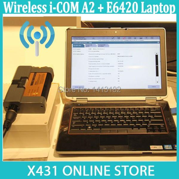 2015-05 Windows 8.1 Software HDD + NEW Wireless/WIFI I-COM A2 + Second Hand E6420 Laptop For BMW FOR ICOM A2 Car Diagnostic Tool(China (Mainland))