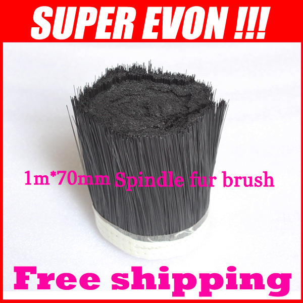 1m 70mm Brush Vacuum Cleaner Engraving machine Dust Cover Spindle fur brush for CNC Router for spindle motor A004A(China (Mainland))