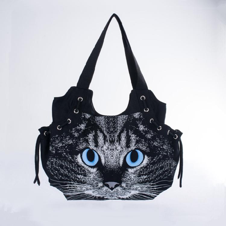 New designed women handbag cute cat canvas bag casual fashion all-match shoulder bag travel bag tote for lady bolsos<br><br>Aliexpress