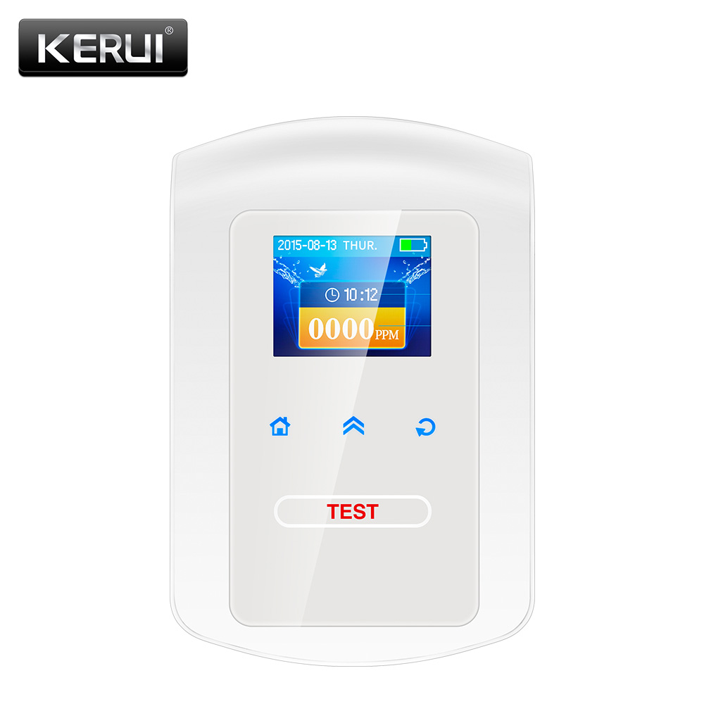 2017 KR-GD23 Home Kitchen Security Combustible Gas Detector LPG LNG Coal Natural Gas Leak Alarm Clock Sensor With Voice Warning
