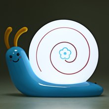 Unique Design Lovely Table Lamps Cute High Quality LED Snail Lamp Rechargeable Night Bed Light Home Decor Energy Conversation(China (Mainland))