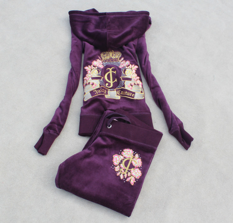 2015 spring new embroidery brand LOGO women's velvet sports suit , high-quality fashion casual Hoodies & pants velvet suit(China (Mainland))