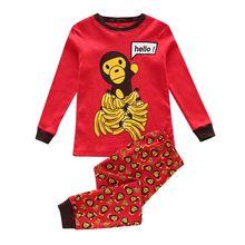 Buy Boys girls cotton Monkey kids pajamas set long-sleeved pyjamas baby girls sleepwear childen clothing baby pyjamas pijama for $4.32 in AliExpress store