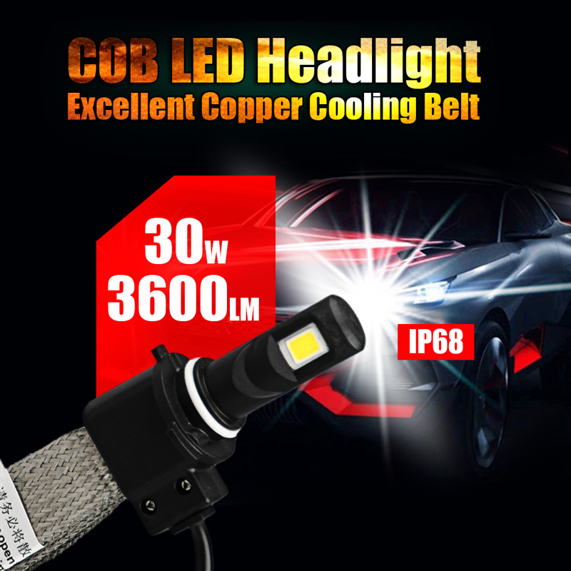 2016 New 6400LM COB LED H1 H3 H4 H7 H11 H13 880 881 9005 9006 9004 9007 Car LED Headlight Conversion Lamp Kit 6000K(China (Mainland))