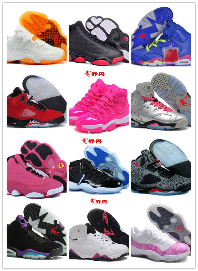 Wholesale New Arrival Cheap Authentic China Jordan 5 6 7 11 13 Women Basketball Shoes More Color TOP Quality Free shipping(China (Mainland))