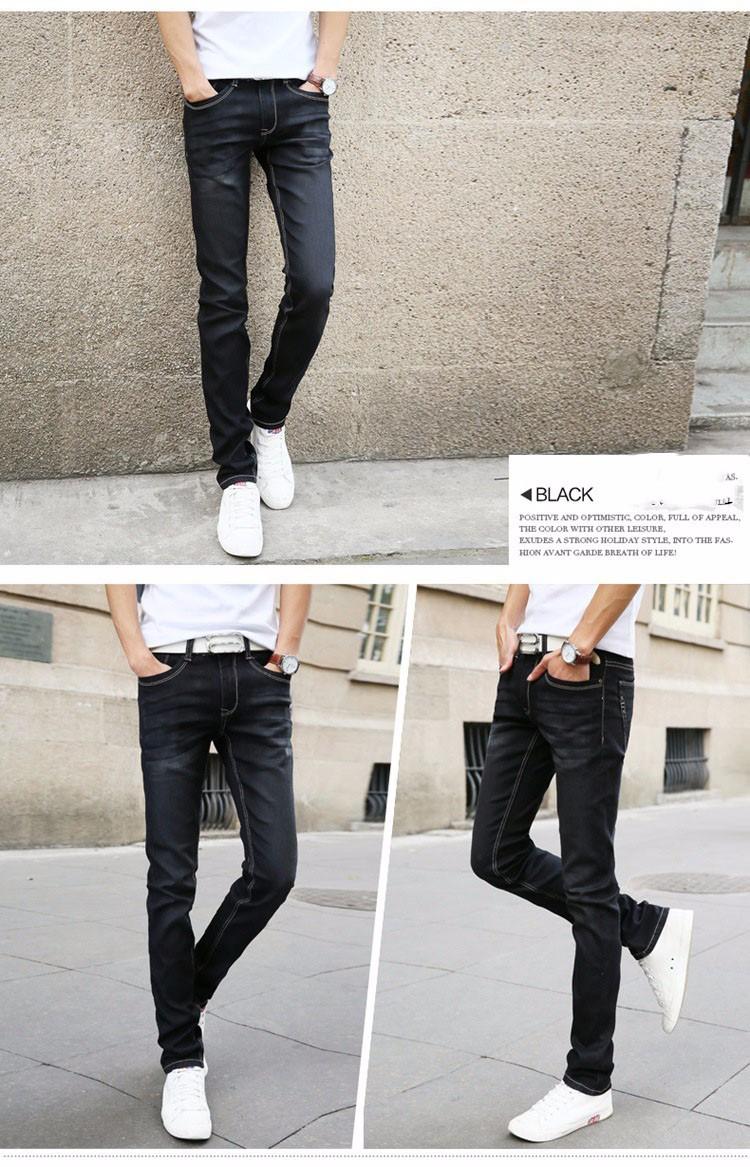 PADAUNGY Jeans Homme High Stretch Pencil Denim Pants Trousers Plus Size Bermuda Masculina Brand Pantalone Vaqueros Slim Fit Jean